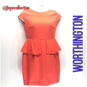 Worthington Peplum Dress za-17